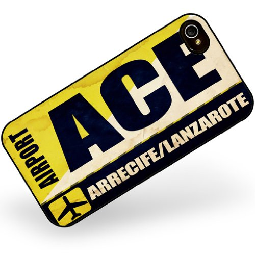 iphone 4 4s Airportcode ACE Arrecife/Lanzarote - Neonblond