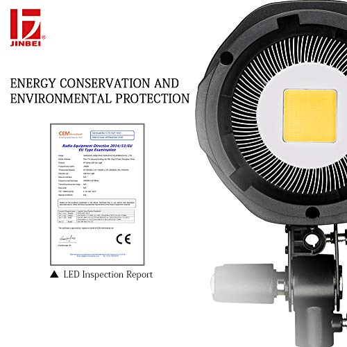 JINBEI EF-150 150Ws Dimmable LED Video Light Continuous Lamp with Bowens Mount Daylight Balanced Video Light 5500K for YouTube Vine Portrait Photography Video Lighting Studio Interview RA 95+ by JINBEI (Image #4)