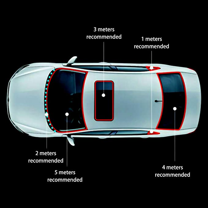 BonTime 5M Adhesive Sealed Strips Zierleiste f/ür Auto Windschutzscheibe Schiebedach dreieckige Fensterdichtung