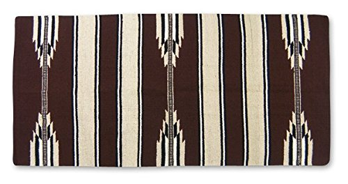 Mayatex Ranger 2000 Saddle Blanket, Brown/Sand/Black, 30 x (Horse Saddle Blanket Pad)