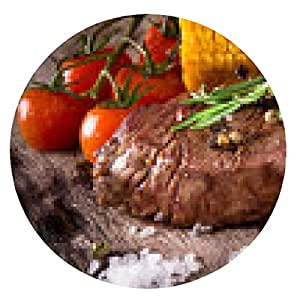 alfombrilla de ratón filete de carne deliciosa - ronda - 20cm
