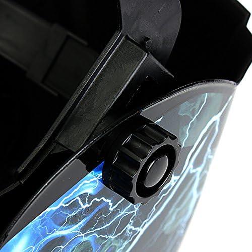 Lightning with Skull LEXPON Welding Helmet Automatic Solar Welding Shield Adjustable Grinding ARC TIG MIG