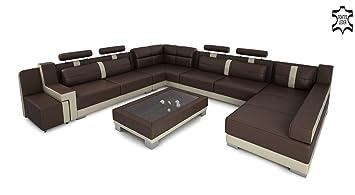 Xxl Wohnlandschaft Leder Big Sofa Couch Ecksofa Ledersofa Ledercouch
