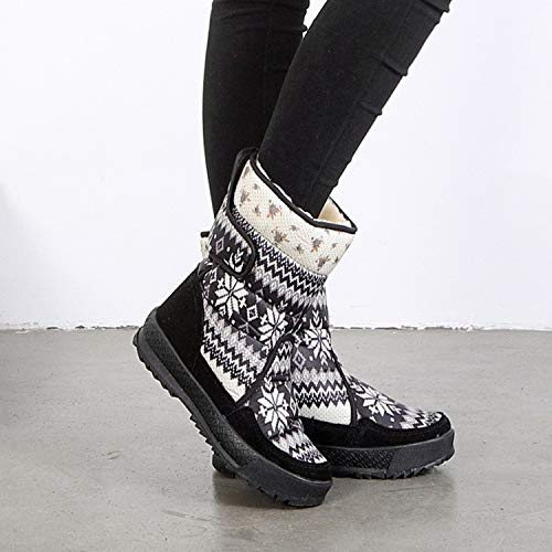 Botas Zapatos Nieve Estampado Flores Invierno De Mujeres Pingxiannv Cálidas Mujer Impermeables t8PFSwtq