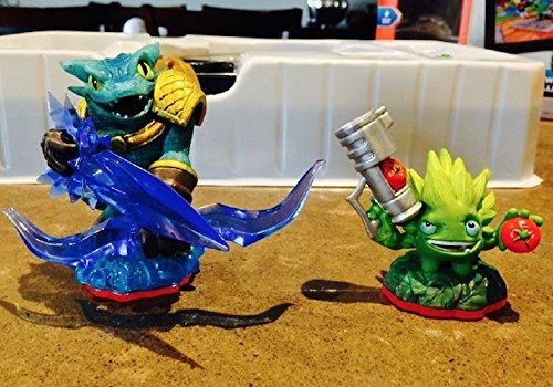 Lot of 2 Skylanders Trap Team Food Fight & Snap Shot Loose Figures ONLY (Night Shift Skylanders)