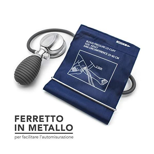 AIESI® Esfigmomanometro Manual Profesional Aneroide Tensiómetro palmar con brazalete de nylon para adultos DOCTOR… 8