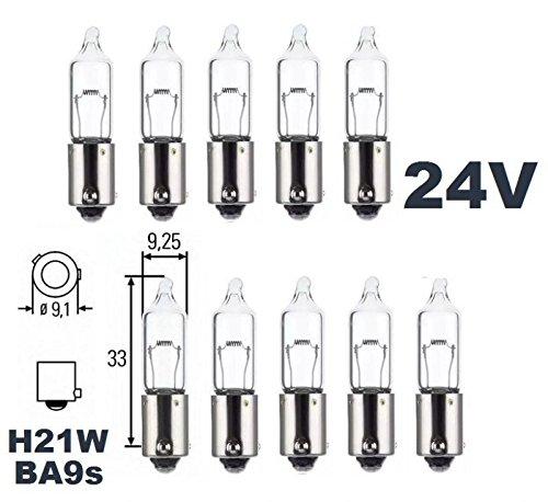 24 V –  Lot de 10 –  H 21 W –  BAY9s –  21 W –  É clairage d'utilitaire camion –  Ampoule, ampoule, lampe navette, lampes.
