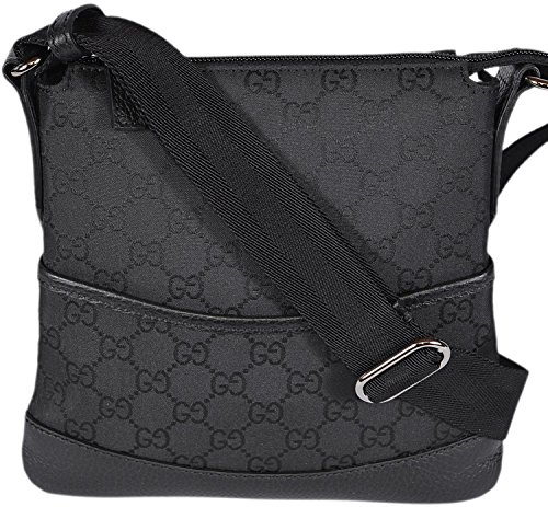 0c5aa61f025a Gucci Mini Nylon GG Guccissima Crossbody Messenger Bag (Black ...