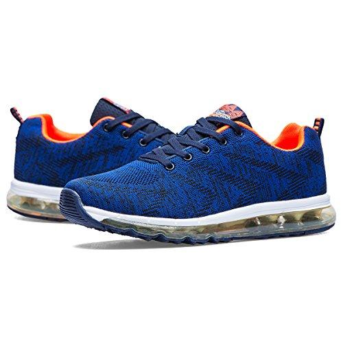 Doublestar Mr Mens Cuscino Daria Outdoor Traspirante Scarpe Da Corsa Atletiche Sneakers Causali Leggeri Blu