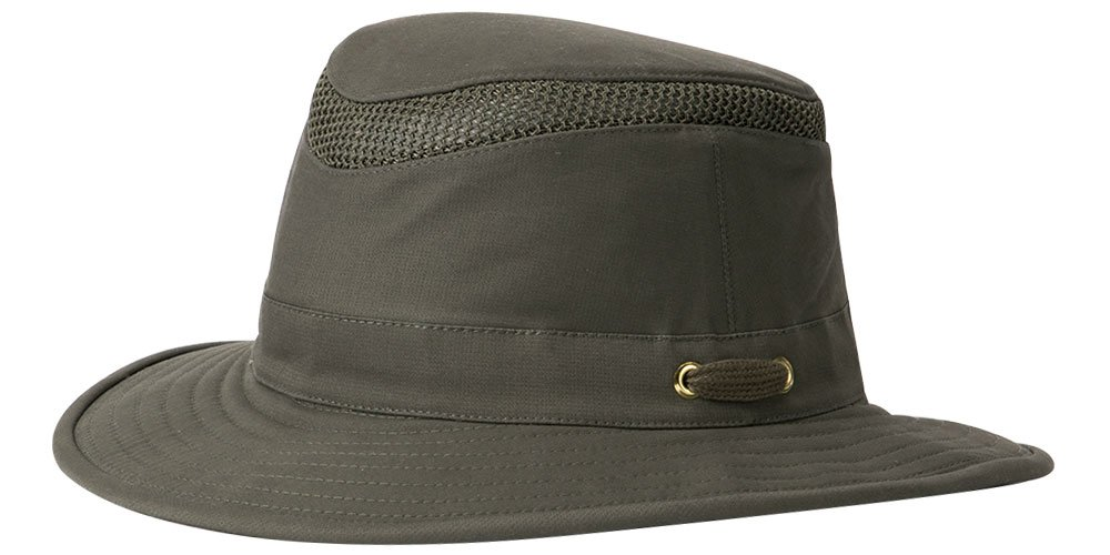 Tilley T5MO Organic Cotton Airflo Hat, Olive, 7 3/8