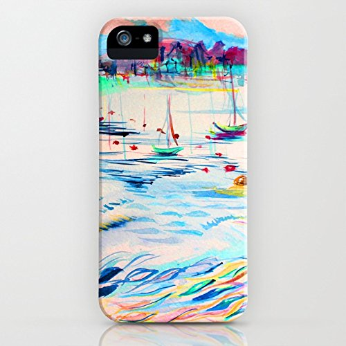 Collins Abstract Painting (Society6 Wave Slim Case iPhone SE)