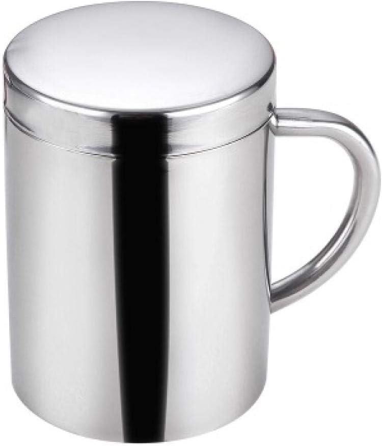 XSY Thermos Cup Tazza Doppia in Acciaio Inossidabile 304 per Bambini Piccoli con Coperchio Asilo Nido Piccola Tazza da caff/è con Manico Tazza antiscottatura