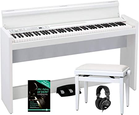 Korg LP-380 WH - Piano digital (88 botones RH3, 3 pedales y 2 ...