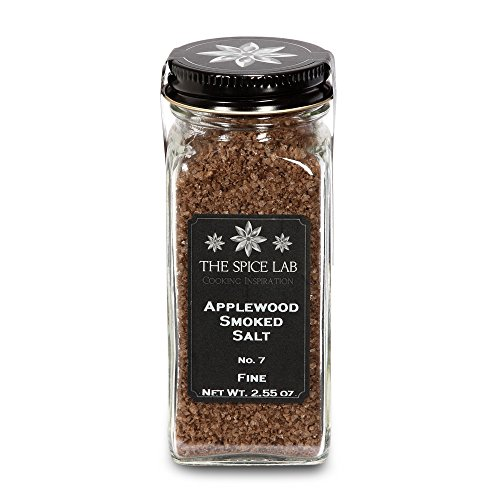 The Spice Lab Apple Wood Smoked Sea Salt - Great on the BBQ - Applewood Seasoning Blend - French Jar by The Spice Lab
