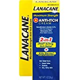 Lanacane, Extra Strengh Instant Relief & Anti-Inch Crème, 3 in 1 Soothes Relief Anti-Bacterial, 28 g