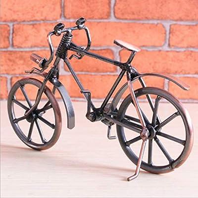 BIYI Antique Bike Model Metal Craft Decoración del hogar Bicicleta Figurilla Miniaturas Niños Cumpleaños Juguete Regalos Desktop Display Craft (Color Cobre): Amazon.es: Hogar