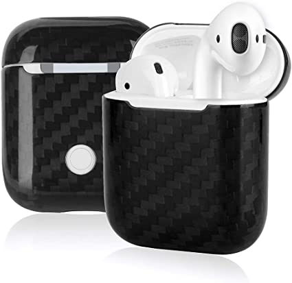 Amazon Com Genuine Carbon Fiber Protective For Airpods Charging