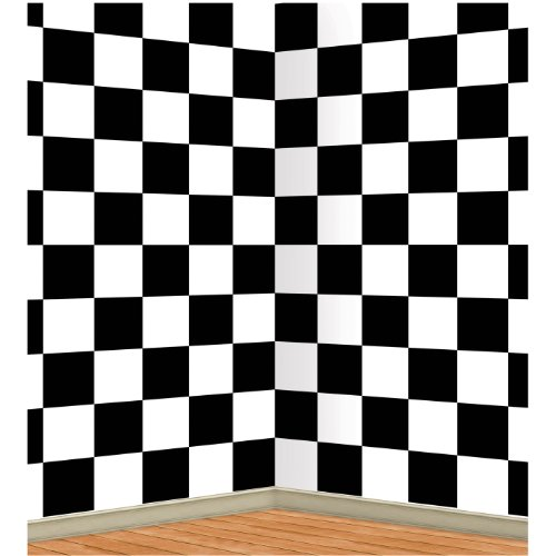 Checkered Backdrop Party Accessory count