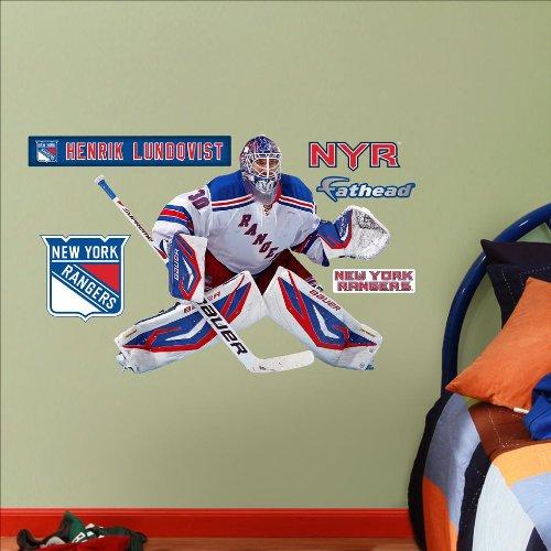New York Rangers Henrik Lunqvist - Fathead Jr. Wall Decal Sticker 31 x 25in