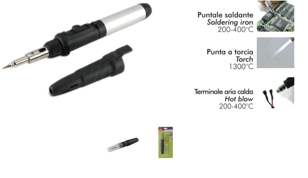 98 - 336 Soldador a Gas Butano a linterna con encendido piezoeléctrico: Amazon.es: Bricolaje y herramientas