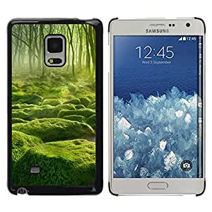 YiPhone /// Prima de resorte delgada de la cubierta del caso de Shell Armor - Misty verde Forrest - Samsung Galaxy Mega 5.8