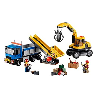 LEGO City Demolition 60075 Excavator and Truck: Toys & Games