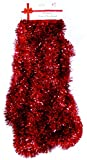 25 Ft. Long Seasonal Holiday Tinsel Garland from Love It! Products. Use for Christmas, Thanksgiving, New Years, Birthday and any celebration, party or event. Color: Red