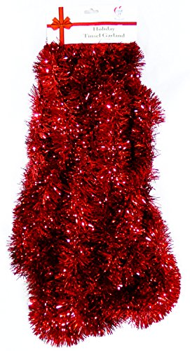 Love It Products 25 Ft. Long Seasonal Holiday Tinsel Garland from Use for Christmas, Thanksgiving, New Years, Birthday and Any Celebration, Party or Event. Color: -