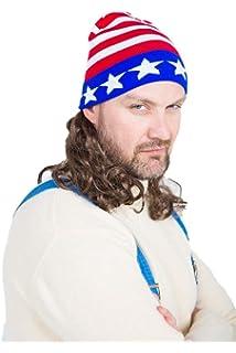 Amazon.com  The Freebird Mullet Wig Skull Cap Red 2770361b1807