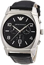 Emporio Armani Men's AR0347 Classic Black Chronograph Dial Watch