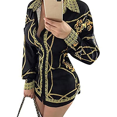 Aro Lora Women's Colorful Printed Button Down Long Sleeves Collared Shirts Blouses Tops at  Women's Clothing store