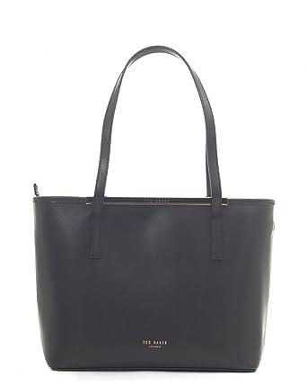 074c744b1 Ted Baker Ammber Enamel Bar Shopper Bag - BLACK  Amazon.co.uk  Clothing