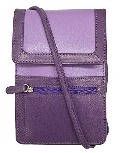 with 6827 Blocking ili RFID New York Lining Crossbody Purple Planet Organizer Leather 8ZZwYaqE
