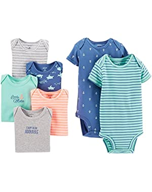 Carter's 7 Pack Bodysuits (Baby) - Assorted Boy-3 Months