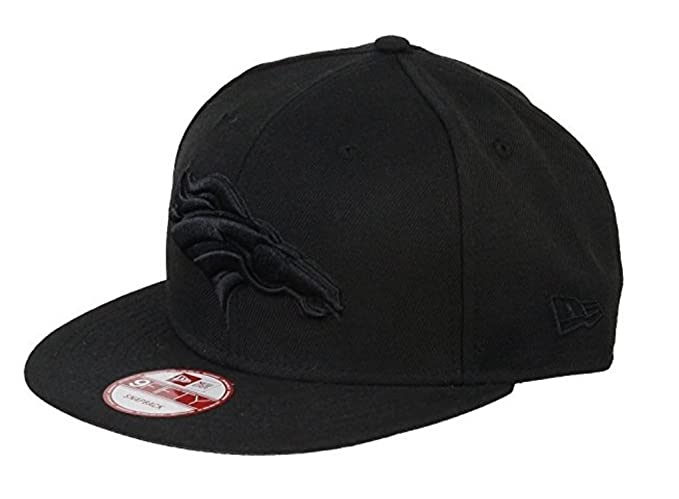 the latest 6aee5 2f4db Image Unavailable. Image not available for. Color  New Era Denver Broncos  9Fifty Black   Black Logo Adjustable Snapback Hat NFL