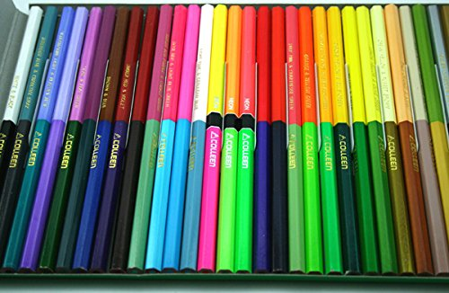Colleen Neon Colored 30 Pencil 60 Color Hexagonal Box Double End Set Drawing Art Japan for Adult Coloring Book Kid Toddler Bulk Artist