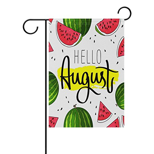 WXLIFE Garden Flag 28 X 40 Large Inches, Hello Augest Summer