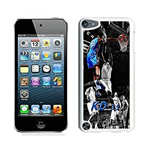 Unique Custom Designed Cover Case For iPod Touch 5th With Oklahoma City Thunder Kevin Durant 7 White Phone Case