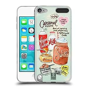 Head Case Designs ilustra recetas suave carcasa de Gel para Apple iPod Touch MP3