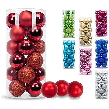 Amazoncom KI Store 24ct Christmas Ball Ornaments Shatterproof