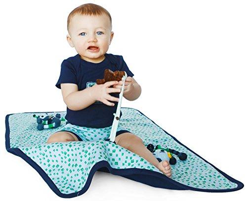 Finn + Emma Organic Cotton Play Mat for Baby Boy or Girl – Robot Heads