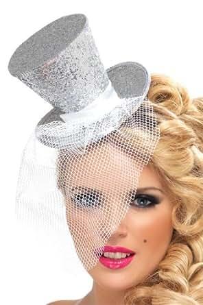 Fever Women's Mini Silver Top Hat