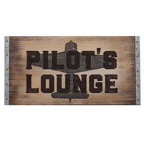 Open Road Brands Pilot's Lounge Wood Wall Art