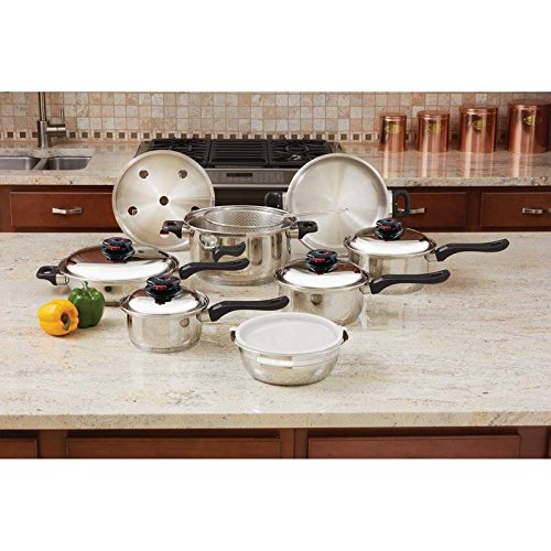 Chefs Secret® 15pc 12-Element T304 Stainless Steel Cookware Home Kitchen Furniture Decor