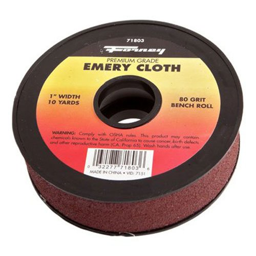 Forney 71803 Emery Cloth, 80-Grit, 1-Inch by 10-Yard Bench Roll Forney Industries