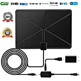 HDTV Antenna Indoor Digital 50 Miles TV Antenna with 2018 Newest Type Switch