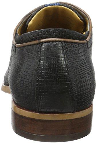 Bugatti 312233011000, Zapatos de Cordones Derby para Hombre Negro (Schwarz 1000)