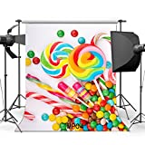5x7ft candy buffet bar shop theme backdrop High-grade portrait cloth Computer printed party baby shower Birthday Backgrounds lv-1018