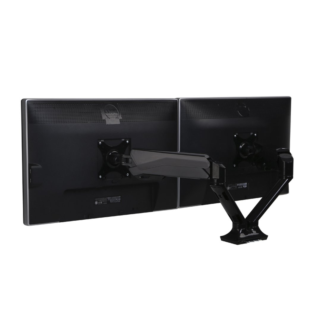 FlexiSpot Dual Monitor Mount, Gas Spring Desk Stand for Two 10''-27'' Flat Screen (F6AD) by FLEXISPOT