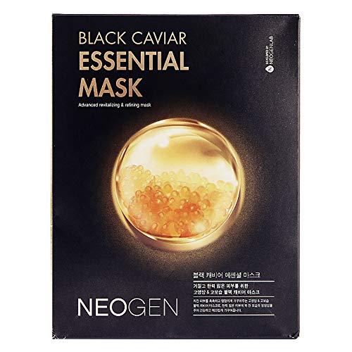 10 PCS Neogen Black Carviar Essential Mask Advanced Revitalizing And Refining -